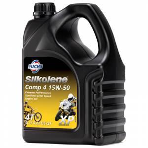 Silkolene Comp 4 15W50 XP Ester Based Semi Synthetic Bike Engine Oil - 4 Litres