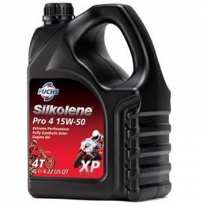 Silkolene PRO 4 15w-50 XP Full Synthetic Ester Bike Engine Oil - 4 Litres