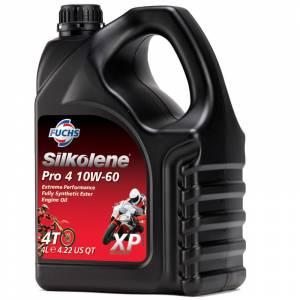 Silkolene PRO 4 10w-60 XP Full Synthetic Ester Bike Engine Oil - 4 Litre