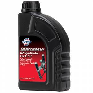 Silkolene 02 Synthetic Fork Oil Fully Synthetic Suspension Fluid - 1 Litre
