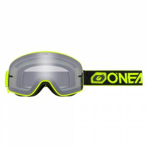 ONeal B-50 Force Black Neon Yellow Silver Mirror Lens Motocross Goggles