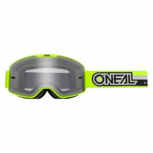 ONeal B-20 Proxy Neon Yellow Black Grey Lens Motocross Goggles