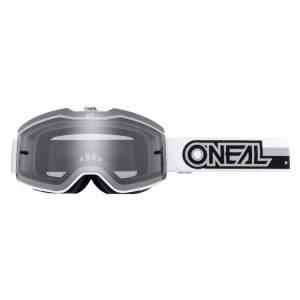 ONeal B-20 Proxy White Black Grey Lens Motocross Goggles