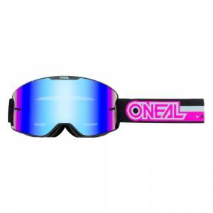 ONeal B-20 Proxy Black Pink Radium Blue Lens Motocross Goggles