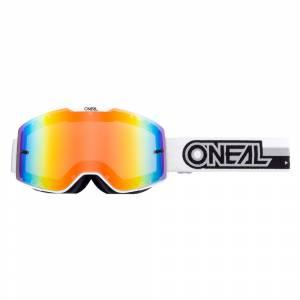 ONeal B-20 Proxy White Black Radium Red Lens Motocross Goggles