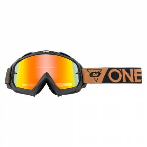ONeal B-10 Speedmetal Black Brown Radium Red Lens Motocross Goggles