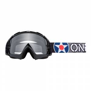 ONeal B-10 Warhawk Black Grey Clear Lens Motocross Goggles
