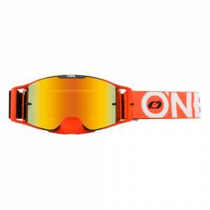 ONeal B-30 Bold Black Orange Radium Red Lens Motocross Goggles