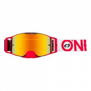 ONeal B-30 Bold Black Red Radium Red Lens Motocross Goggles