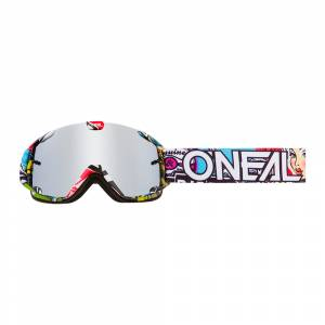 ONeal B-30 Crank Silver Mirror Lens Kids Goggle Multi