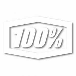 """100% Die Cut 16"""" White Trailer Decal"""