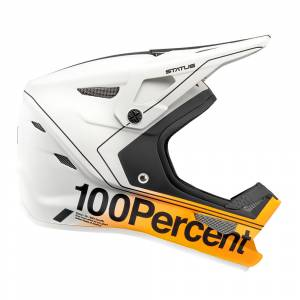 100% Kids Status Carby Silver Mountain Bike Helmet