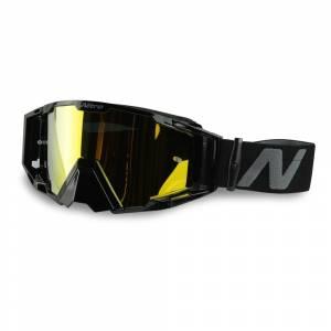 Nitro NV-100 Gold Mirror Lens Motocross Goggle Black