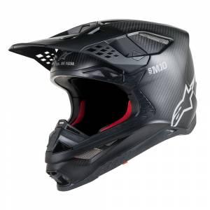Alpinestars Supertech SM10 Solid Black Motocross Helmet