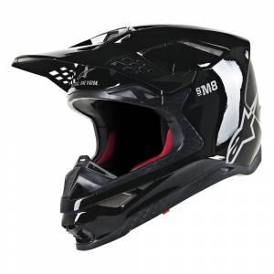 Alpinestars Supertech S-M8 Solid Black Gloss Motocross Helmet