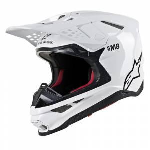 Alpinestars Supertech S-M8 Solid White Motocross Helmet