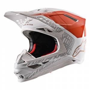 Alpinestars Supertech S-M8 Triple Orange White Motocross Helmet