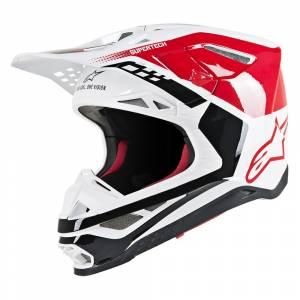 Alpinestars Supertech S-M8 Triple Red White Motocross Helmet