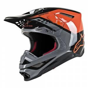 Alpinestars Supertech S-M8 Triple Orange Grey Black Motocross Helmet