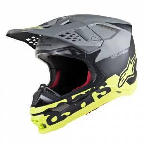 Alpinestars Supertech S-M8 Radium Black Mid Grey Yellow Fluo Motocross Helmet