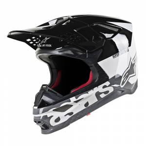 Alpinestars Supertech S-M8 Radium White Black Mid Grey Motocross Helmet