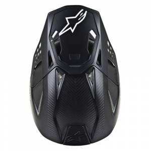 Alpinestars SM10/SM8 Solid Black Motocross Helmet Peak