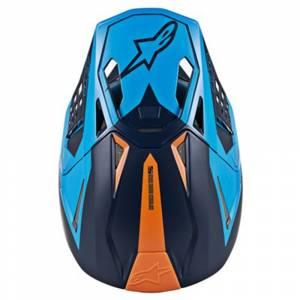 Alpinestars SM10 Meta Blue Motocross Helmet Peak