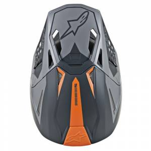 Alpinestars SM10 Meta Cool Grey Motocross Helmet Peak