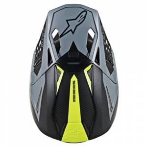 Alpinestars SM10 Meta Black Grey Motocross Helmet Peak