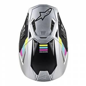 Alpinestars SM8 Contact Silver Motocross Helmet Peak