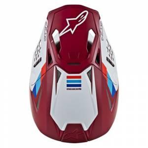 Alpinestars SM8 Contact Red Motocross Helmet Peak