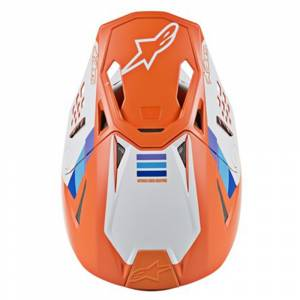 Alpinestars SM8 Contact Orange Motocross Helmet Peak