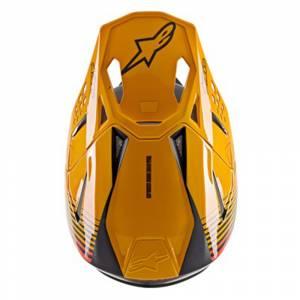 Alpinestars SM10 Dyno Black Orange Motocross Helmet Peak