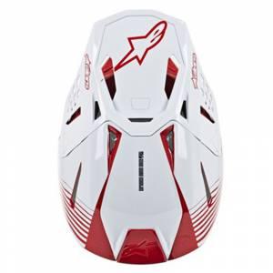 Alpinestars SM10 Dyno White Red Motocross Helmet Peak