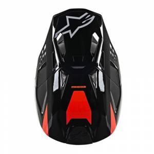 Alpinestars SM8 Radium Black Motocross Helmet Peak