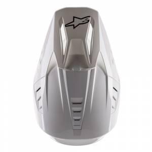 Alpinestars SM5 Solid White Motocross Helmet Peak