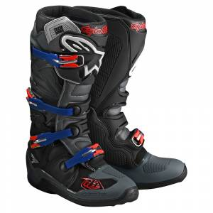Troy Lee Alpinestars Tech 7 Limited Edition Black Grey Motocross Boots