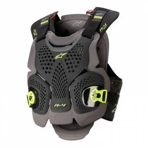 Alpinestars A-4 Max Black Anthracite Fluo Yellow Chest Protector