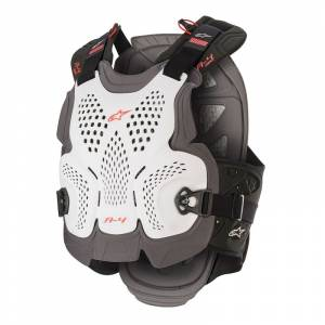 Alpinestars A-4 White Anthracite Red Max Chest Protector