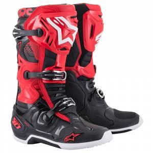 Alpinestars Tech 10 Red Black Motocross Boots