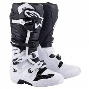 Alpinestars Tech 7 White Black Motocross Boots
