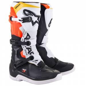 Alpinestars Tech 3 Black White Red Fluo Yellow Motocross Boots