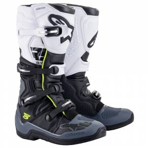 Alpinestars Tech 5 Black Grey White Motocross Boots