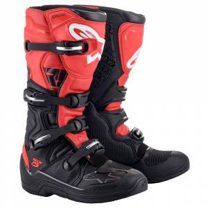 Alpinestars Tech 5 Black Red Motocross Boots