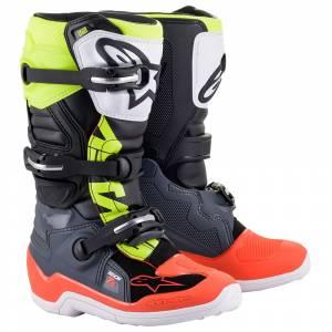 Alpinestars Kids Tech 7S Grey Red Fluo Yellow Motocross Boots