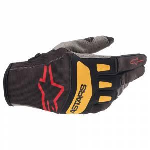 Alpinestars Techstar Black Red Orange Motocross Gloves