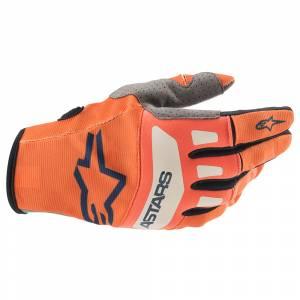 Alpinestars Techstar Orange Blue Motocross Gloves