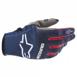 Alpinestars Techstar Dark Blue Red White Motocross Gloves