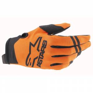 Alpinestars Kids Radar Orange Black Motocross Gloves