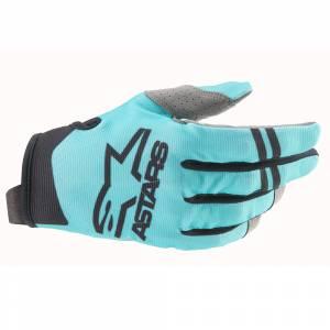 Alpinestars Radar Green Blue Black Motocross Gloves